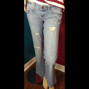 American Eagle Boyfriend Flare distressed jeans 2